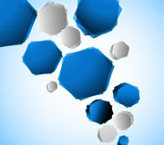 Background with hexagons Stock Photo