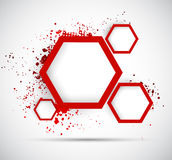 Background with hexagons Royalty Free Stock Image