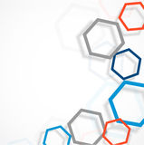 Background with hexagons Stock Photos