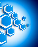 Background with hexagons Stock Images