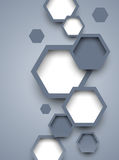 Abstract background with hexagons Royalty Free Stock Photos
