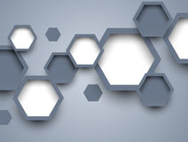 Background with hexagons Stock Image