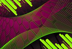Background of hexagons with diagonal bars in citri Stock Image