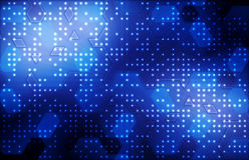 Background with hexagons. Hi-tech digital technology concept Stock Photos