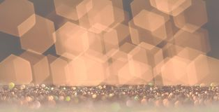 Background of hexagons and red light sparkles. Royalty Free Stock Photos