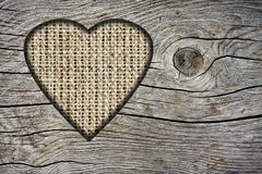 Background with a hole in the shape of heart Royalty Free Stock Images