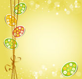 Background with holiday Easter eggs Stock Photo