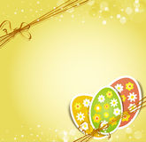 Background with holiday Easter eggs Stock Image