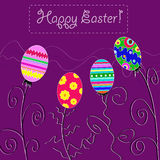 Background with holiday Easter eggs Royalty Free Stock Photos