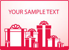Background with holiday gift and sample text Royalty Free Stock Image