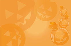 Background for a holiday Halloween with smiling pumpkins Royalty Free Stock Photography