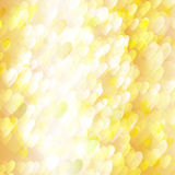 Background of holiday lighted hearts. Abstract background of holiday lighted hearts, with the effect it motion Stock Photo