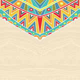 Background With Holiday Mexican Ornament Royalty Free Stock Image