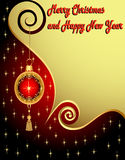 Background holiday new year star ball Royalty Free Stock Photos