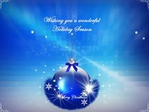 Background, holidays with light, garland and snowflakes Stock Images