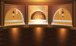 Background for the holy month of Ramadan The month of fasting in the Muslim community Royalty Free Stock Photography