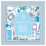 Background on home appliances theme Royalty Free Stock Image