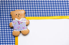 Background with  a honey-cake bear Royalty Free Stock Photography