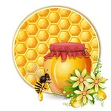 Background with honeycomb Stock Images