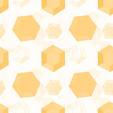 Background of honeycomb hexagons Royalty Free Stock Photos