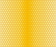 Background with honeycombs. The seamless yellow background with a honeycombs Royalty Free Stock Photo