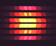 Background with Horizontal Color Cells.  Royalty Free Stock Photo