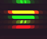 Background with Horizontal Color Cells.  Stock Image
