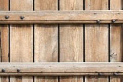 Background of horizontal light brown wooden planks Stock Photo