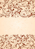 Background with horizontal pattern. Decorative template for text, illustration Royalty Free Stock Photos