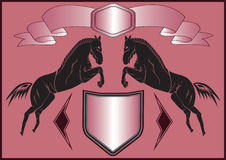 Background with horses Stock Image