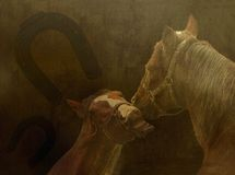 Background with horses Stock Photos