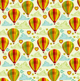 Background with hot air balloons Royalty Free Stock Photo