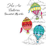 Background with Hot Air Balloons Royalty Free Stock Image