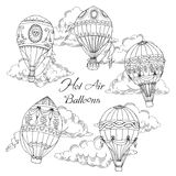 Background with Hot Air Balloons Stock Images