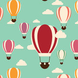 Background with hot air balloons, seamless pattern Royalty Free Stock Photography