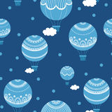 Background with hot air balloons. Royalty Free Stock Photography
