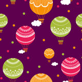 Background with hot air balloons. Stock Images