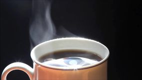 Background hot coffee stock footage
