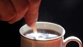 Background hot coffee stock video