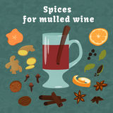 Background with hot wine Royalty Free Stock Photography