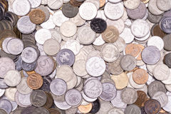 The background of a huge number of Russian coins kopecks and ru Royalty Free Stock Photography