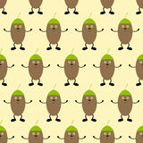 Background with hugging acorns Royalty Free Stock Images