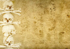 Background with human skulls and bones Stock Image