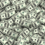 Background of hundred-dollar bills. Background from chaotically scattered hundred-dollar bills Royalty Free Stock Photo