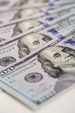 Background of  hundred dollar bills. close up view  cash  money Stock Photo