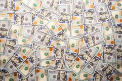 Background from a of hundred dollar bills royalty free stock image