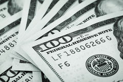 Background of hundred-dollar bills Royalty Free Stock Photo