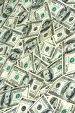Background of hundred dollars bank notes Royalty Free Stock Photo