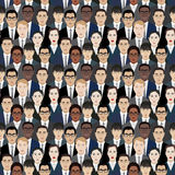 Background with hundreds of business people. Vector illustration Royalty Free Stock Photography