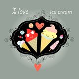 Background with ice cream Stock Photography